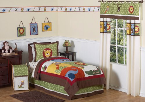 Jungle Time Children & Kids Bedding 4 pc Twin Set by Sweet JoJo Designs