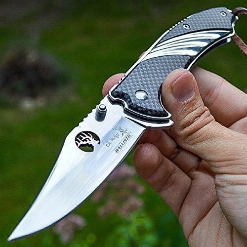 8″ ELK RIDGE Carbon Fiber SPRING ASSISTED OPEN Hunting FOLDING POCKET KNIFE Review
