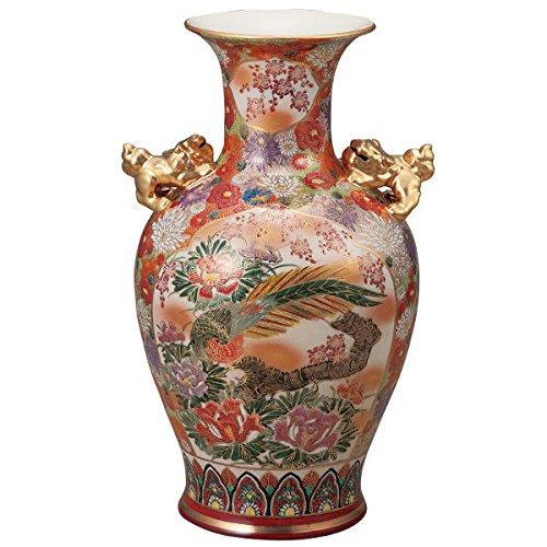 九谷焼 15号花瓶 割取花詰K5-1362[花生けフラワーベース] B0746L4T3Q