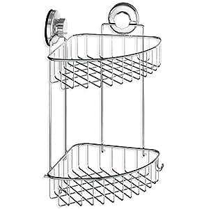 Hasko accessories suction cup corner shower - Bathroom corner caddy stainless steel ...