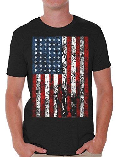 Awkward Styles Awkwardstyles American Flag Distressed T-Shirt 4th July Shirt + Bookmark