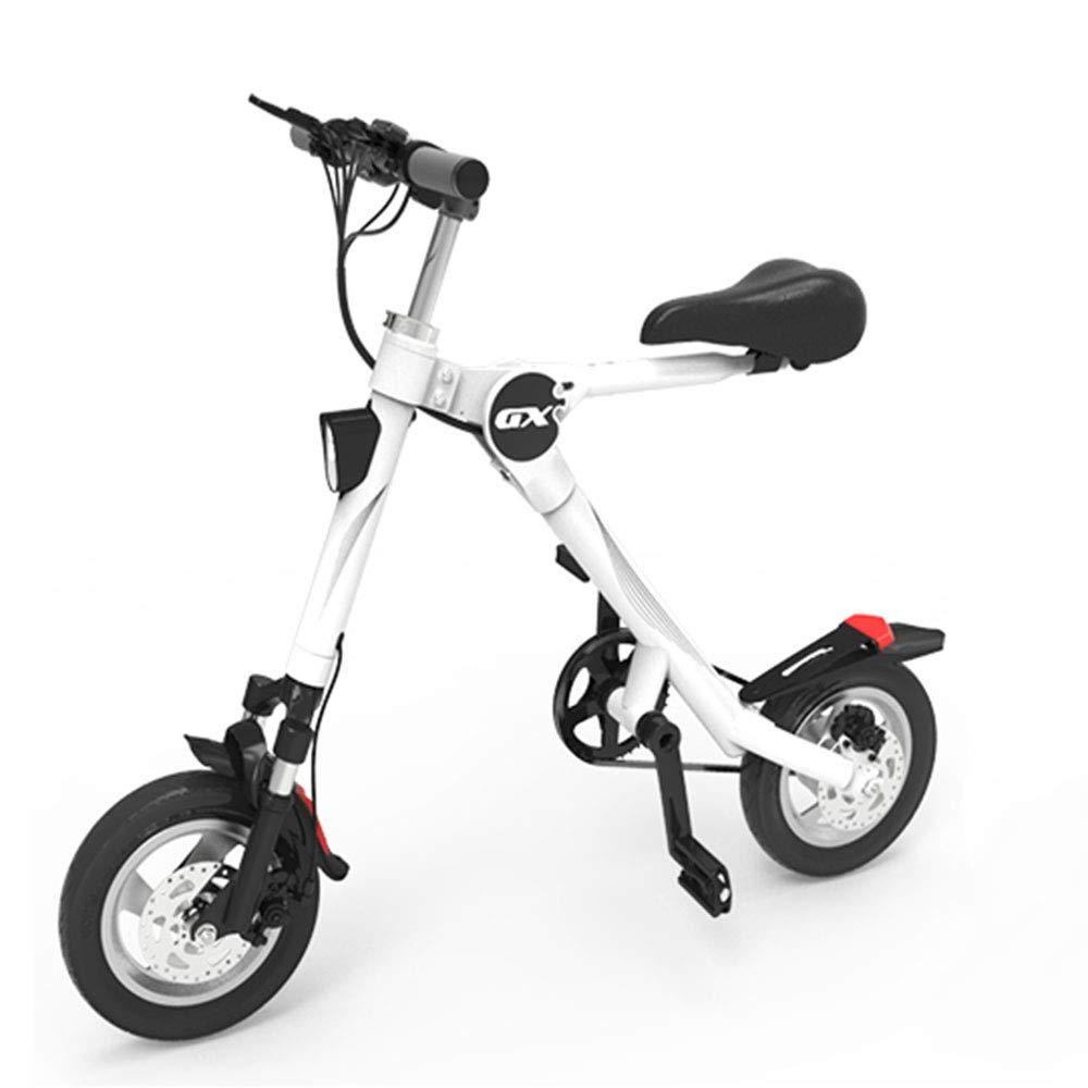 ミニ折りたたみ電気自動車、成人用リチウム電池5速ポータブルスクーター二輪折りたたみ旅行バッテリー車led照明36ボルトに耐えることができる重量150キログラム