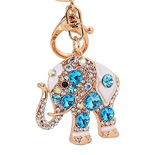 Llavero con diseño de elefante de la suerte, colorido ópalo ...