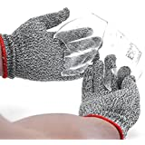 Saxton Cut Resistant Work Gloves - High Performance Level 5 Protection, Food Grade. (Small)