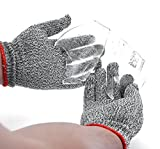 Saxton Cut Resistant Work Gloves - High Performance Level 5 Protection, Food Grade. (Large)