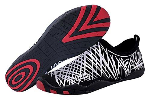 SAMI STUDIO Männer und Frauen Wasser Schuhe Leichte Durable Rolle Aqua Schuhe Geeignet Für Fahren Schwimmen Bootfahren Yoga Beach Surf Weiß