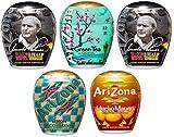 AriZona Liquid Water Enhancer LWE Assorted Mix (Pack of 5) Arnold Palmer (2), Green Tea w/Honey, Mucho Mango, Green Tea w Pomegranate