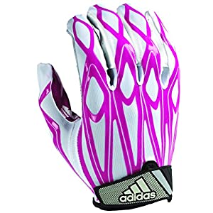 adidas Filthy Quick Football Gloves, White/Pink, Medium