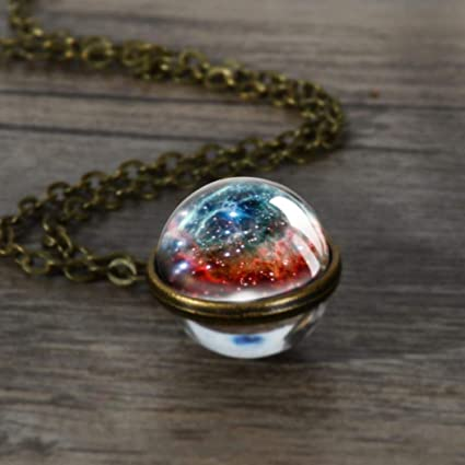 Amazon.com  MYEDO Galaxy Pendant Necklace 3e87fcaee898