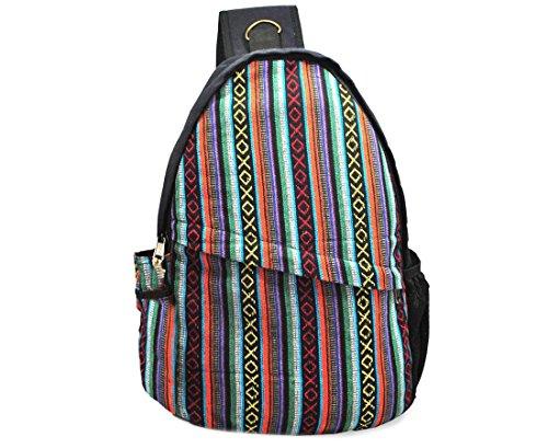 e44405cea0 Mato Boho Sling Bag Backpack Bohemian Tribal Aztec Pattern One Shoulder  Daypack Black
