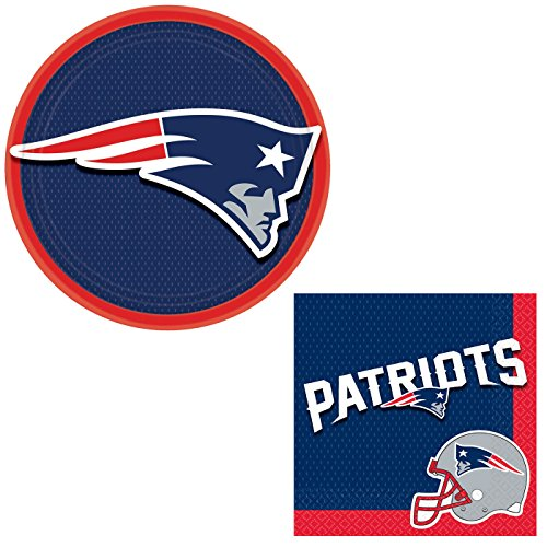 New England Patriots Decoration 24pc Party Pack, Red White Blue (Patriots Party Supplies)