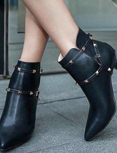 Botas La Xzz Semicuero Zapatos Cn42 5 negro 5 5 Black Tacón Y Oficina Stiletto Moda Eu41 Eu4 10 Gris Trabajo us9 De 8 Eu42 Mujer Puntiagudos Uk7 5 Cn43 Uk8 Vestido us10 A Gray HwYwqr86
