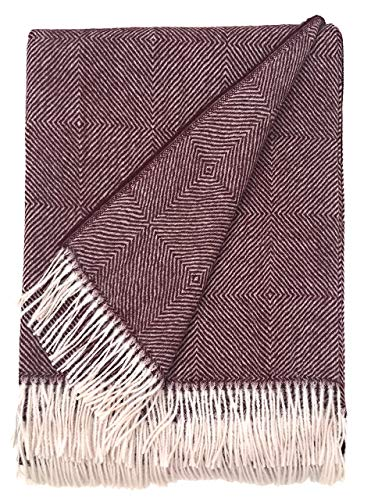 Dynasty Throw Blanket | 100% Pure Baby Alpaca Wool • Hypoallergenic, Soft & Cozy • Ethically Sourced | Softer & Warmer Than Wool (Baltic Ave.) ()