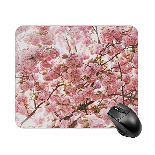 Atunme Mouse Pad Pink Cherry Blossom Tree Under Sunny Sky Mousepad Non-Slip Rubber Gaming Mouse Pad Rectangle Mouse Pads for Computers Laptop]()