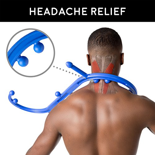 Body Back Buddy Original Trigger Point Therapy Self Massage Tool – S-Shaped Shoulder, Back & Neck Acupressure Massager, Myofascial Release Tool & Deep Muscle Massage Stick by Body Back Company