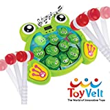 ToyVelt Whack A Frog Game - for Boys and Girls Ages 2,3,4,5,6 Years Old - Educational STEM, Early Developmental Toy, Promote Motor Skills - Includes 2 Hammers - The Best Gift for 2 Year Old