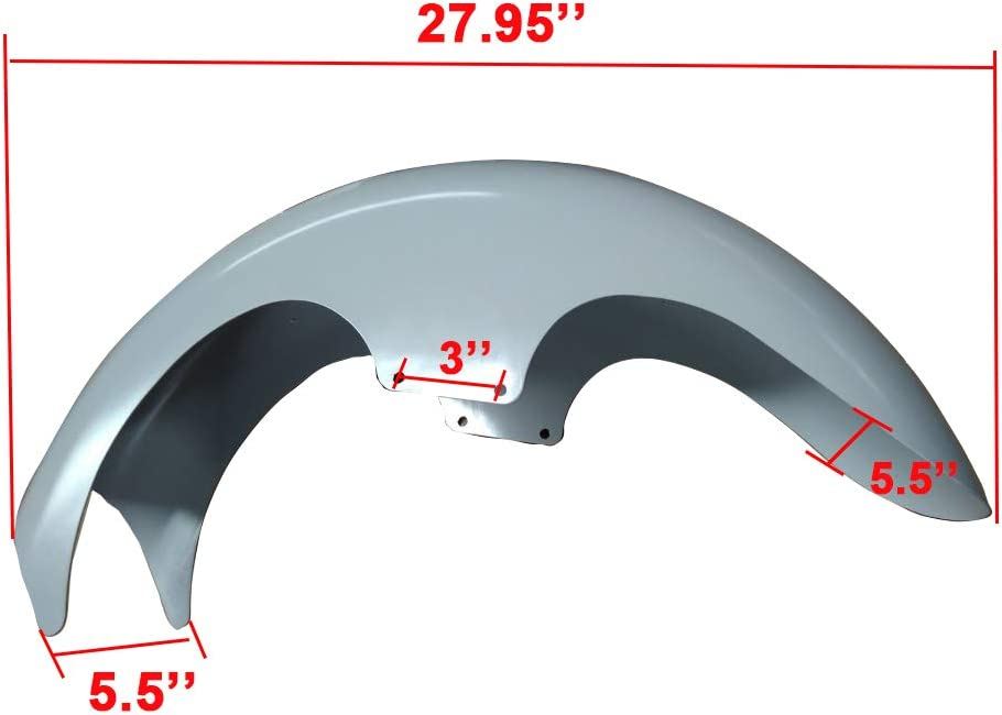 TJMOTO Unpainted Front Fender 21 Wheel Heavy Duty Steel Custom Mudguard For 14-19 Harley Touring Baggers Dresser Electra Road Glide Street Glide Road King 2014 2015 2016 2017 2018 2019