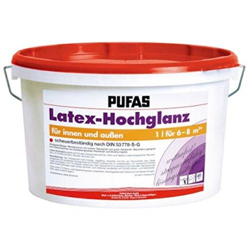 Pufas Latex-Hochglanz 10L Latexfarbe Glanzlatex hochglänzend