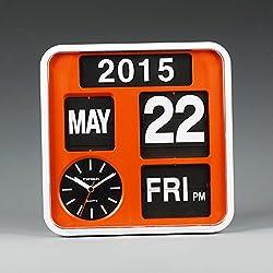 FARTECH Auto Calendar Flip Clock AD-650 (Orange)