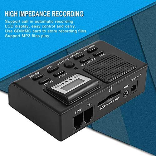 Caja de grabación de teléfono digital DSXR Pantalla LCD Soporte ...