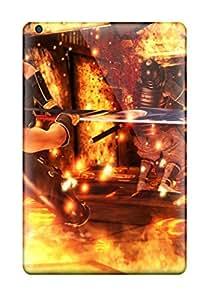 JCKAWNq6667wwTZL Tpu Phone Case With Fashionable Look For Ipad Mini/mini 2 - Ninja Gaiden Fantasy Anime Warrior Sword Battle Fire