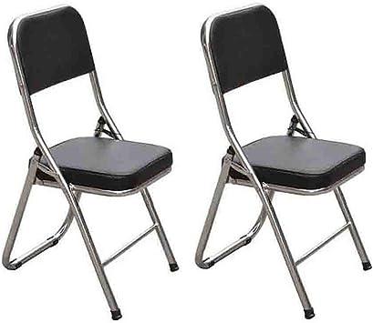 YCSD Pack - 2 sillas Plegables de Acero Resistente para Escritorio ...