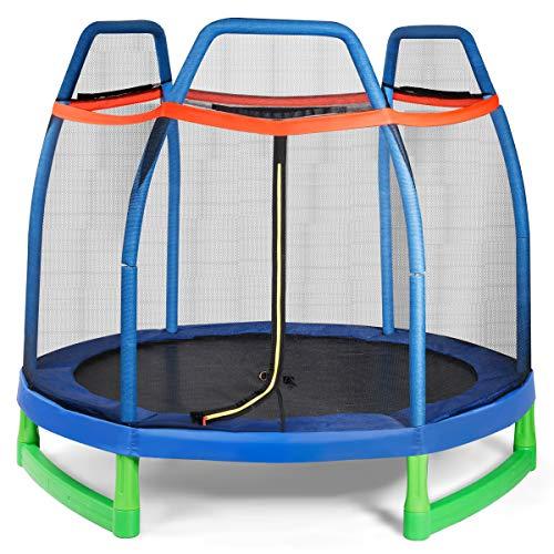 Giantex 7 Ft Kids Trampoline w/Safety Enclosure Net
