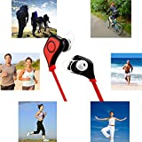 Superex Bluetooth CSR4.0 Wireless Stereo Headphones with Mic Sport Bluetooth Earbuds Sweatproof Running Gym Exercise Earphones for Iphone, Android, Samsung, Smart Phones Bluetooth Devices(Red)