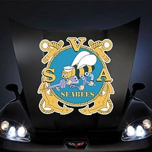 "US Navy Seal SeaBee SVA () 20"" Huge Decal Sticker by Boom Savings"
