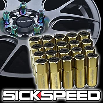 SICKSPEED 20 PC ROSE GOLD SPIKED ALUMINUM 60MM LUG NUTS WHEELS//RIMS 12X1.25 L12