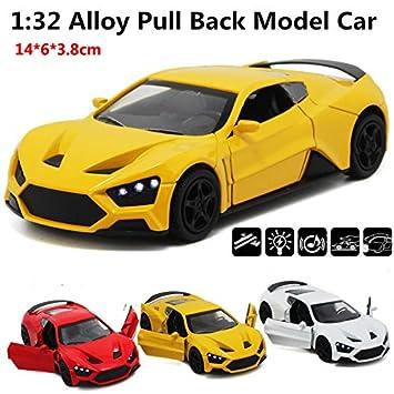 Amazon com : Supercar, Sweden Z sports car, 1:32 alloy pull