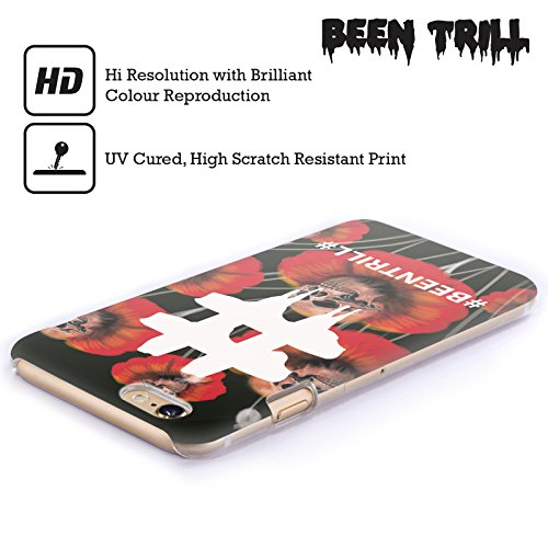 Official Been Trill Poppy Flower Floral And Skulls Hard Back Case for Apple iPhone 3G / 3GS