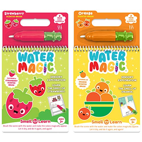 (Scent Masters Water Magic - Reusable Water Reveal Activity Pads 2-Pack - Strawberry and Orange Scented)