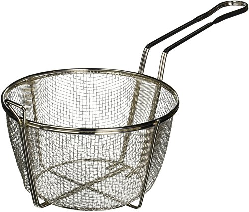 Winco FBRS-8 Round Wire Fry Basket, 8-1/2-Inch, (Round Wire Fry Basket)