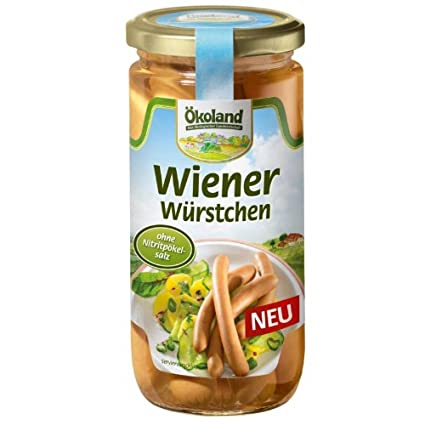 7d796f049eddd4 Ökoland Wiener Würstchen (180 g) - Bio  Amazon.de  Lebensmittel ...