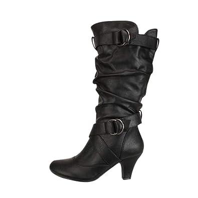 Fuibo Damen Stiefel, Mode Frauen Overknee High Boot High Heel Lange  Oberschenkel Stiefel Schuhe Stiefel b108c979b6