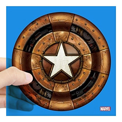 CafePress Captain America Steampunk S Square Sticker 3 X 3 Square Bumper Sticker Car Decal, 3