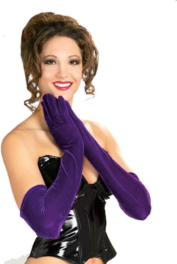 Long Purple Velvet Gloves - NS: Amazon.es: Juguetes y juegos