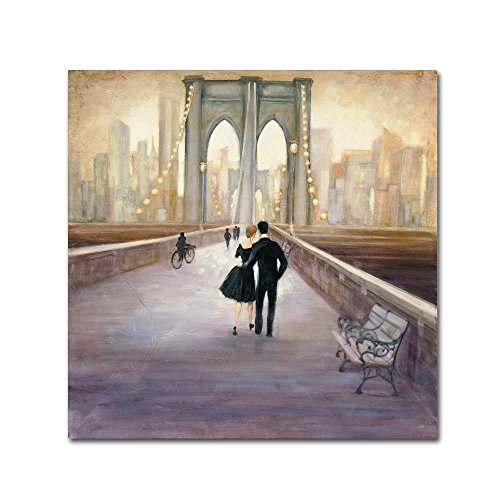 Trademark Fine Art Bridge to NY by Julia Purinton, 24x24-Inch Canvas Wall Art