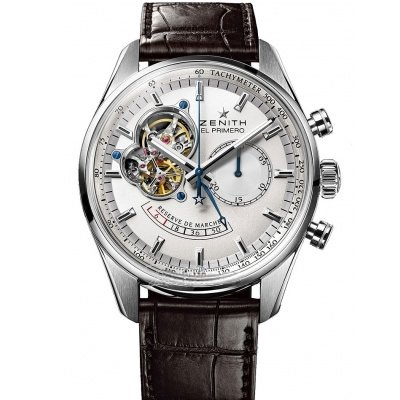 Zenith Men's 03.2080.4021/01.C494 Chronomaster Open Power Reserve Silver Dial Watch, Watch Central