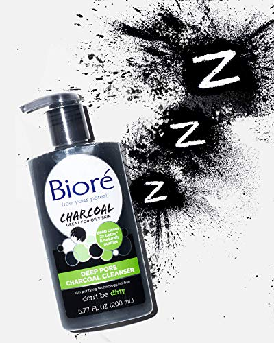 Bioré, Daily Face Wash with Cleansing for Dirt and Makeup Removal From Oily Skin Ounce, Deep Pore Charcoal Cleanser… 4