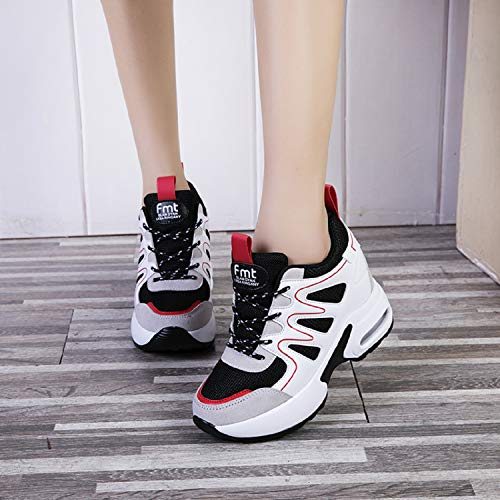 Cm Zeppa Ginnastica Rosso 7 Interna Aonegold Con Tacco Sneakers Donna Scarpe Fitness Sportive Da w5TZXq7