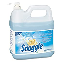 Snuggle DRK 5777724 Liquid Fabric Softener, Blue Sparkle, Floral Scent, 2 gal Bottle (Pack of 2)
