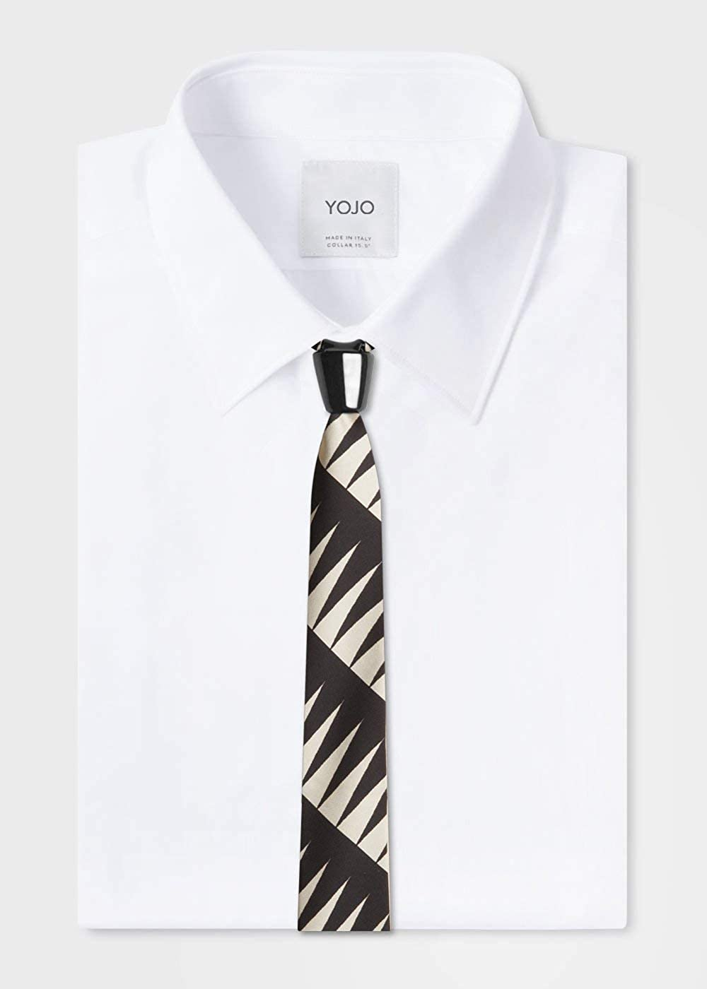 YOJO LIMITED Cravatta uomo in seta con nodo windsor in ceramica