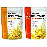 InstaKetones® (2 Pack) (Orange Burst) 11.7g BHB Per Scoop (1 Caffeine 1 Non-Caffeine) (60 Servings) Exogenous Ketones