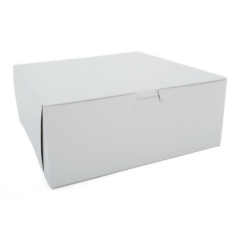 Southern Champion Tray 0995 Premium Clay Coated Kraft Paperboard White Non-Window Lock Corner Bakery Box, 16'' Length x 16'' Width x 5'' Height (Case of 50)