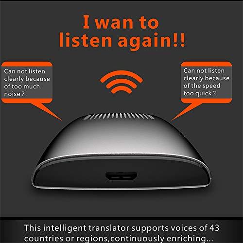 Ecurson 2.4'' Smart Instant Smart Voice Translator Real Time WiFi 43 Languages Speech Translation Machine (Black) by Ecurson (Image #3)