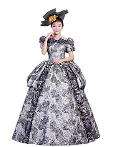 97c501915200 Zukzi Women's Gothic Victorian Lolita Masquerade Dresses Ball Gowns, US 18,  #Y223