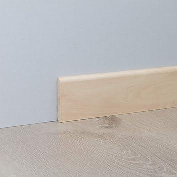 Sockelleiste Fu/ßbodenleiste Standard aus MDF in Silber Ahorn 2600 x 10 x 60 mm