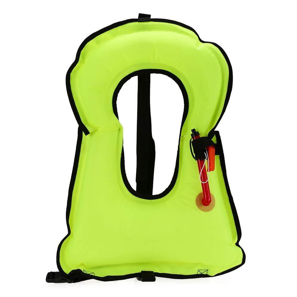 Lixada Inflatable Snorkel Vest Adults&Kids Snorkeling Life Jackets for Snorkeling Kayaking Swimming Survival Safety